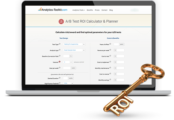 A/B Testing ROI Calculator / Costs and Benefits Ratio Calculator
