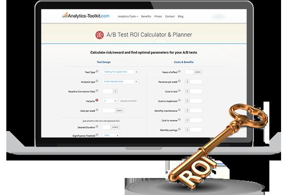 A/B Testing ROI Calculator / Costs and Benefits Ratio Calculator
